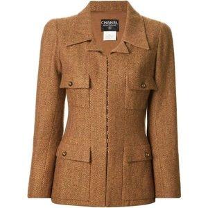 Chanel Fall 1996 herringbone jacket